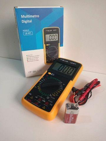 Multímetro digital profissional c/capacímetro beep sonoro