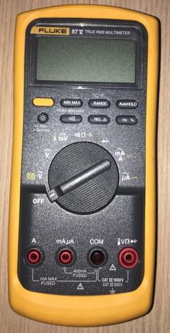 Multímetro fluke 87-v com bolsa de acessórios e pontas de