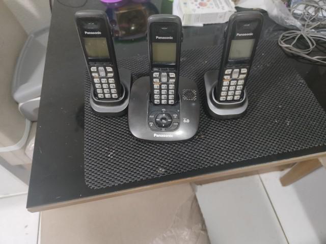 Telefone panasonic sem fio com sec. elet. e identificador