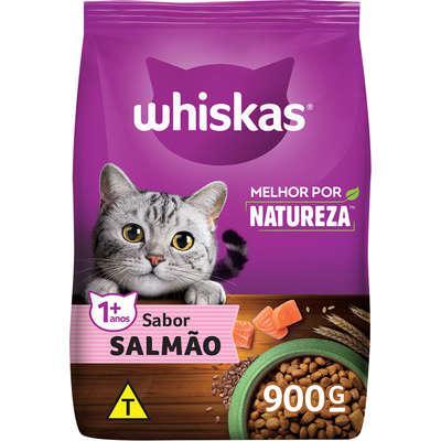 Ração whiskas melhor por natureza salmão gatos adultos