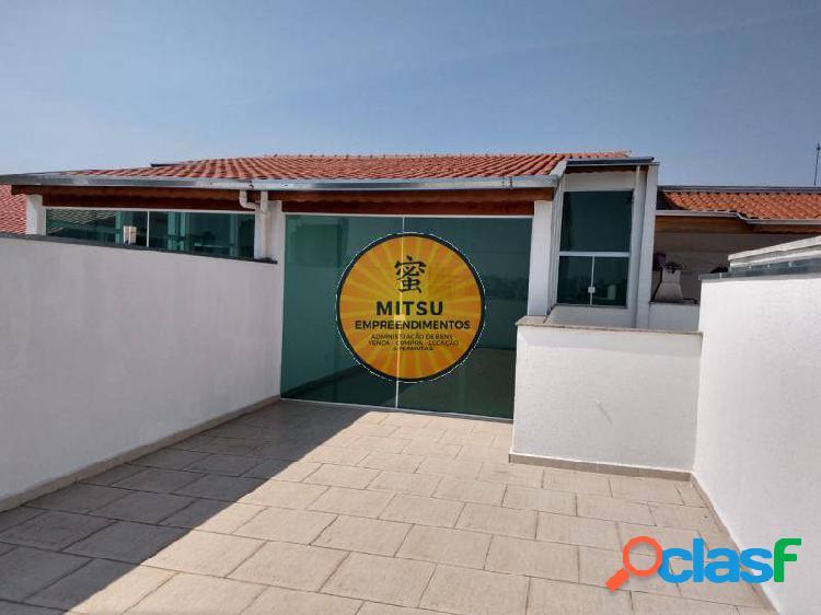 Apartamento cobertura no vila humaitá, com 140m² (70+70),