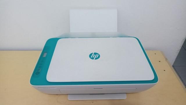 Impressora hp nova com wi-fi e cartuchos cheios de tinta