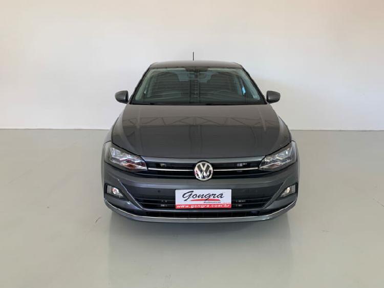 Volkswagen polo hatch 1.0 200 tsi highline cinza 2020/2020 -