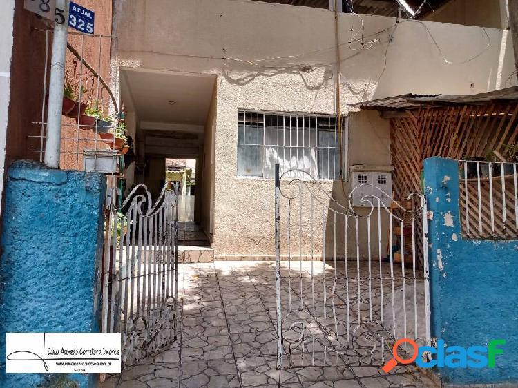 Casa antiga c/ terreno 7x25m - vila guarani - santo andré - são paulo