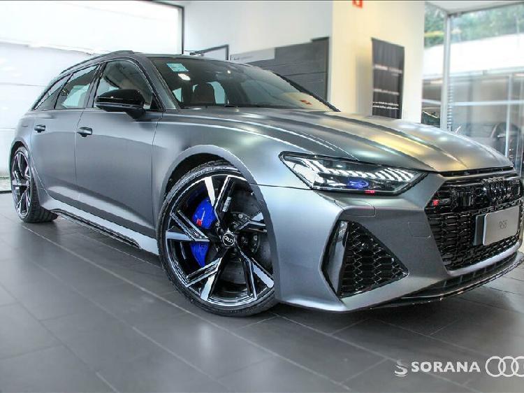 Audi rs6 4.0 avant twin turbo mhev cinza 2021/2021 - são