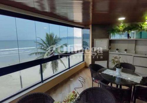 Apartamento frente mar, meia praia, itapema - sc