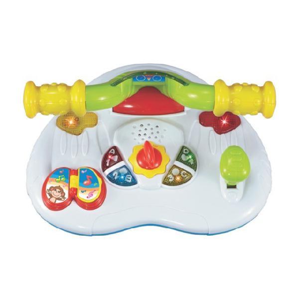 Brinquedo infantil interativo volante jet baby