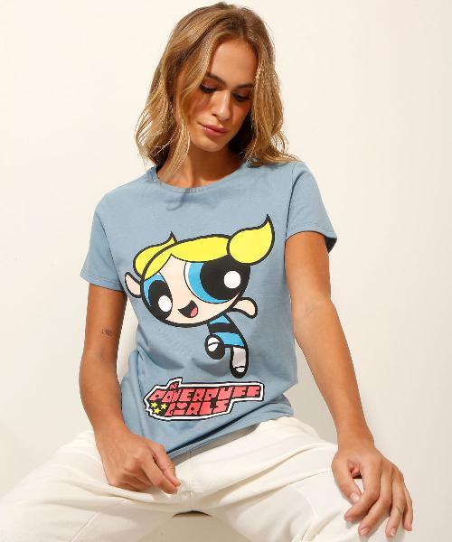 Camiseta as meninas superpoderosas lindinha manga curta