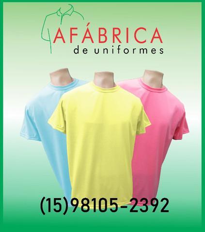 Camisetas coloridas 100% poliéster para
