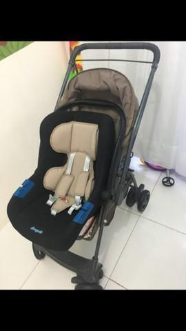 Carrinho marca galzerano e bebê conforto burigotto
