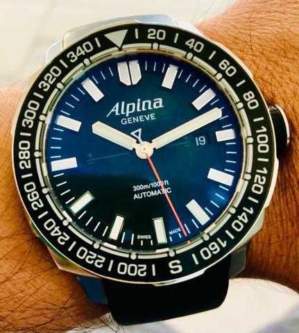 Relógio alpina série limitada adventure extreme salling
