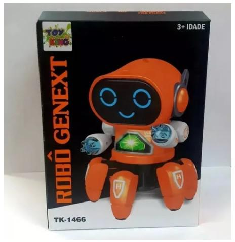 Robô genext anda canta dança brinquedo pra criança