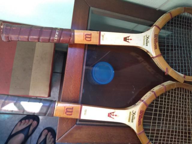 2 raquetes antigas wilson kramer