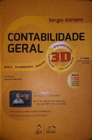 Livro contabilidade geral 3d - sergio adriano