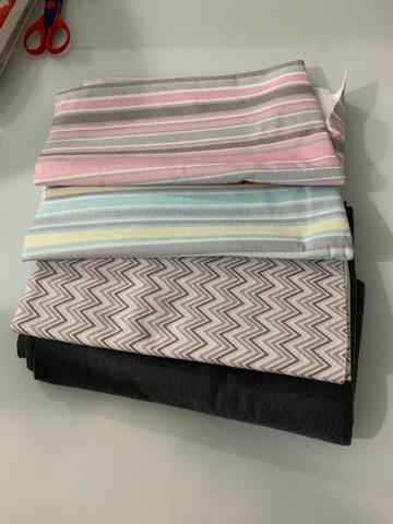 Pack de feltros coloridos e tecidos