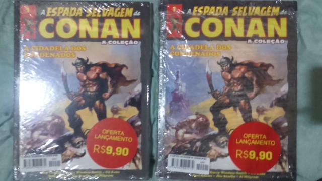 Conan 10,00 cada livro pra vir buscar 1 lacrado outro aberto