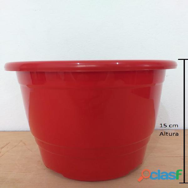 vaso de planta e flores colorido promocao 15 x 17 cm PLRC 17