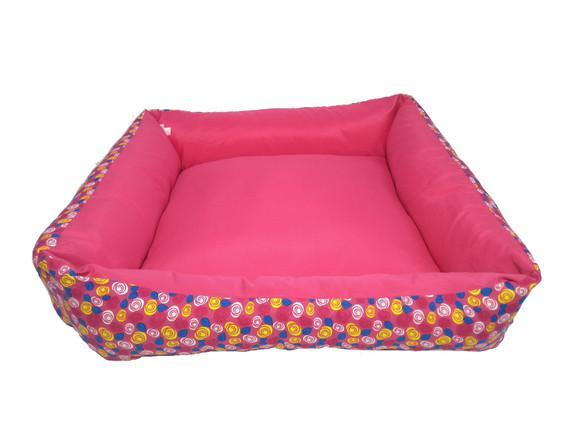 Cama quadrada rosa com zíper gg