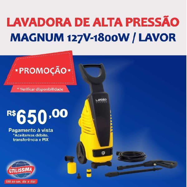 Lavadora de alta pressão magnum 127v/50-60hz ? entrega