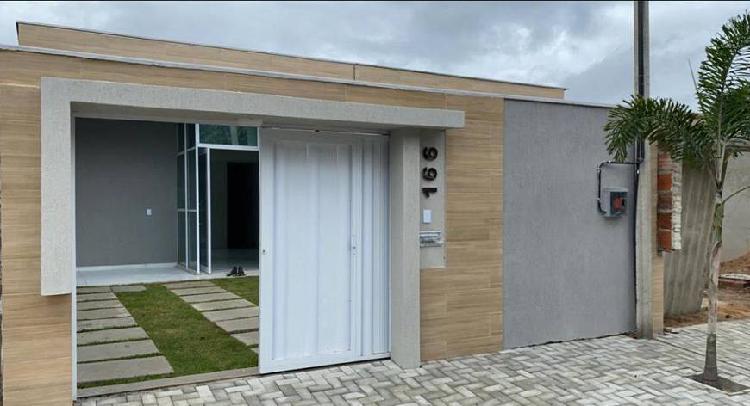 Casa plana 103 m2, 3 quartos, rua sem saída - eusébio -