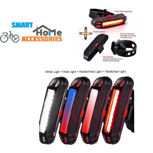 Lanterna traseira bicicleta bike mtb azul e vermelho