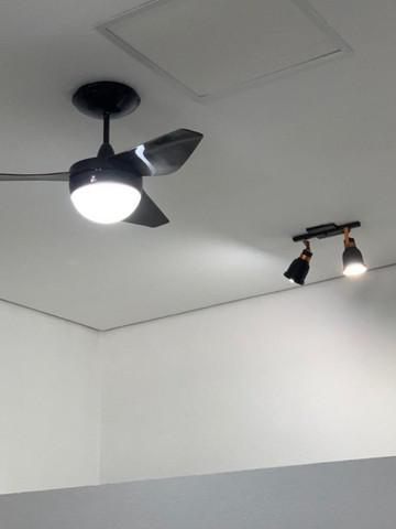 03 ventiladores de teto, com controle remoto, 110 v, nano