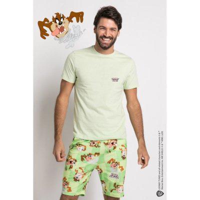 Pijama manga curta acuo pijama manga curta verde