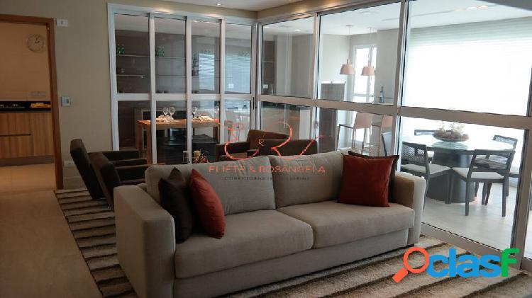 Apartamento decorado e mobiliado com 3 suítes no aquarius.