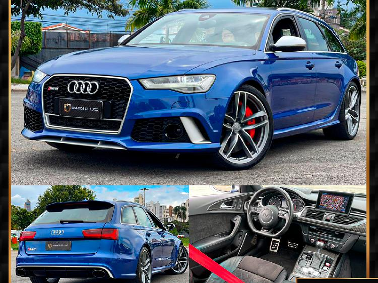 Audi rs6 4.0 avant bi-turbo v8 azul 2015/2016 - goiânia
