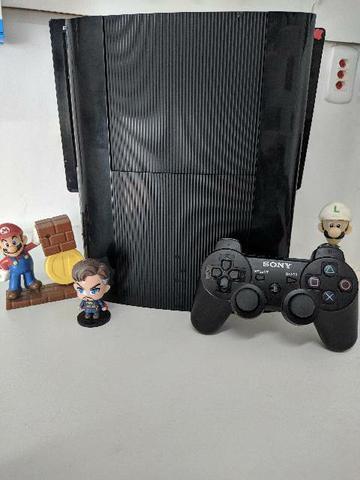 Playstation 3 super slim destravado + garantia+ benefício