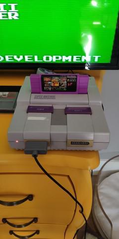 Super nintendo original modelo 001 com caixa jogos e