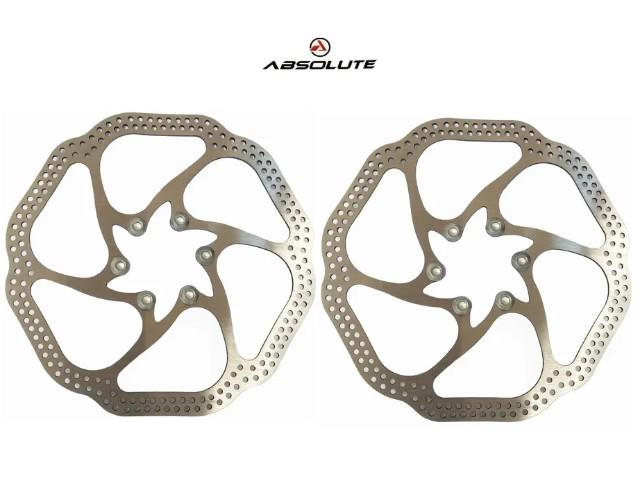 Disco de freio bicicleta absolute 160mm/180mm disco rotor