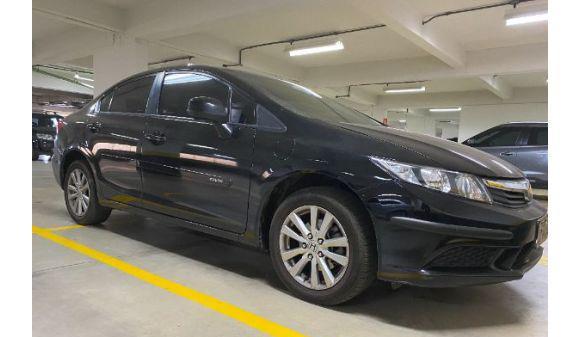 Honda civic 1.8 honda civic lxs flex 12/13 preto