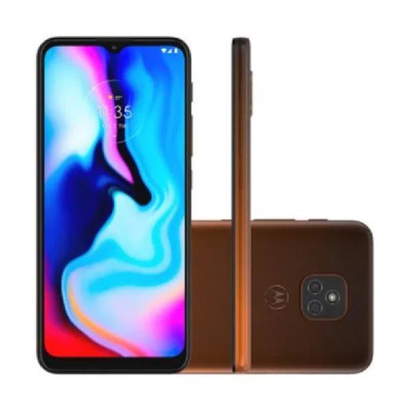 "Smartphone moto e7 plus dual chip android 10 tela 6.5"" 64 gb"