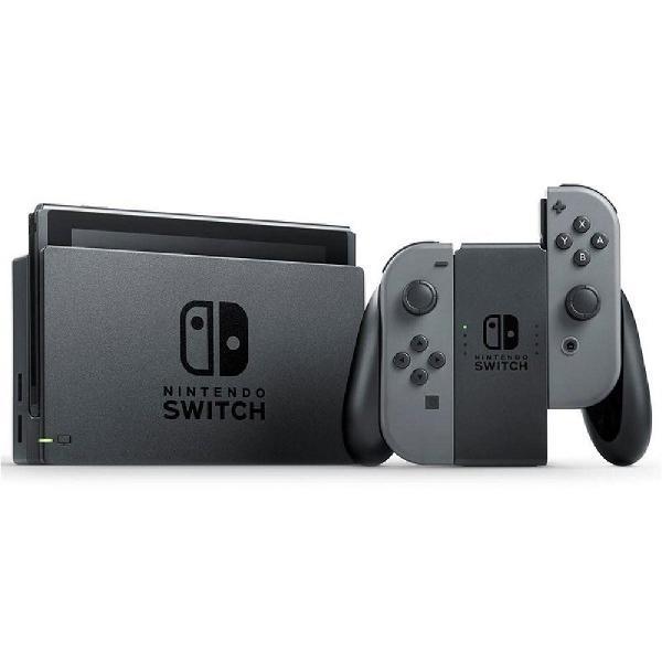 Console nintendo switch cinza 32gb com 1 controle joy con