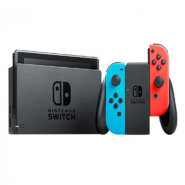 Console nintendo switch vermelho e azul 32gb com 1 controle