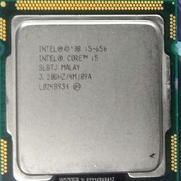 Processador intel core i5-650- cache 4m, 3.20 ghz