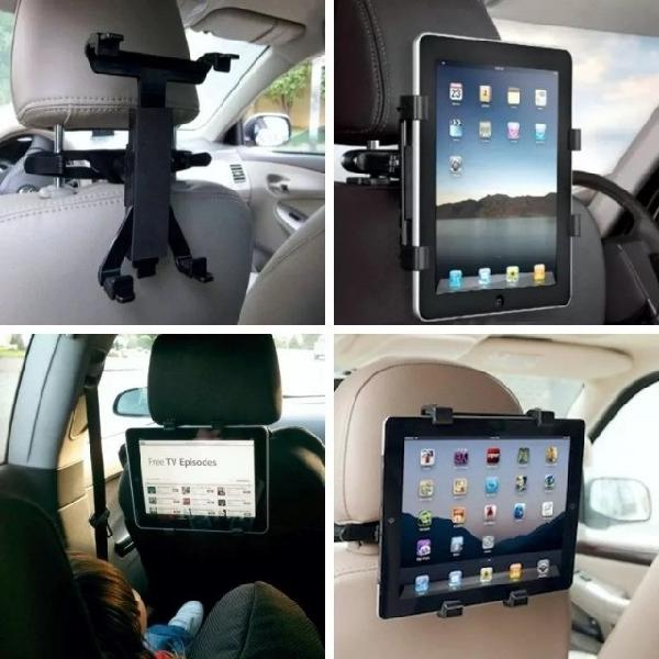 Suporte para encosto de cabeça de carro para tablets ipad