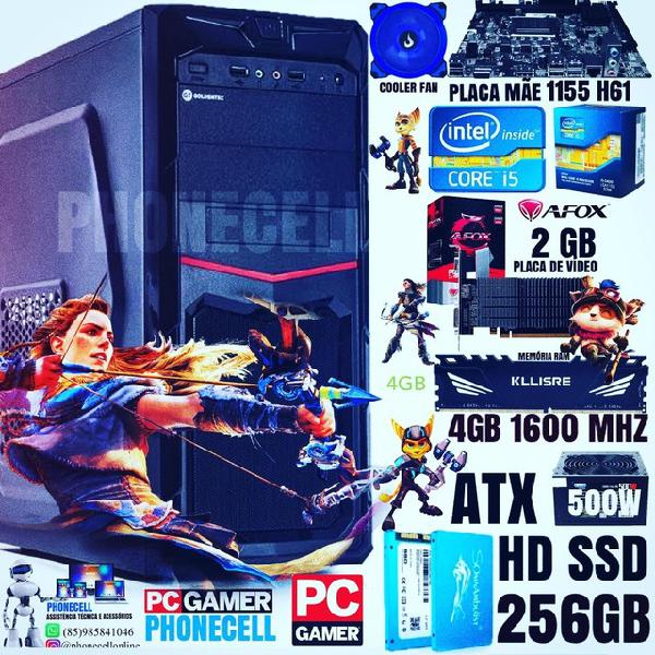Computador pc gamer, core i5, 4ram, hd ssd 256gb