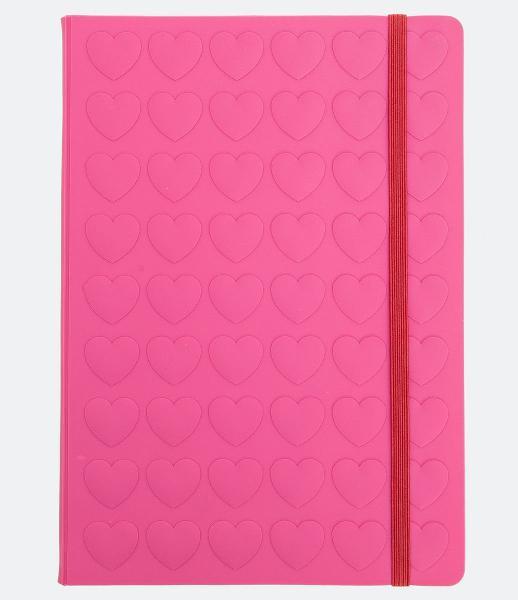 Caderno corações 3d tema love