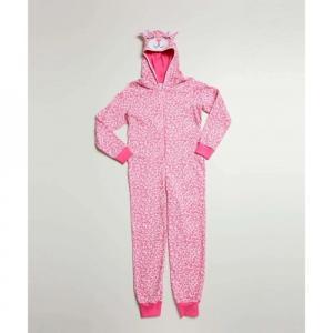 Parcelado] Pijama Infantil Macacão Animal Print Capuz