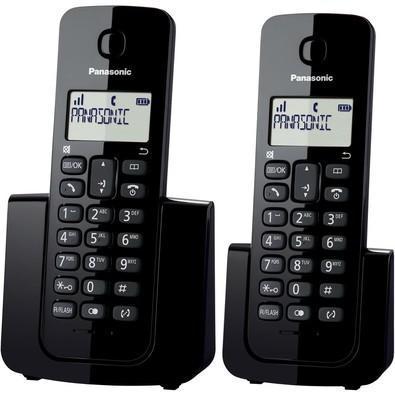 Telefone panasonic sem fio com base+ramal com id /