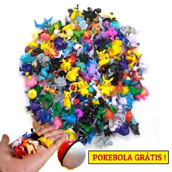 Kit com 24 Miniaturas do Pokemon 3cm + 1 Pokebola 5cm + 1