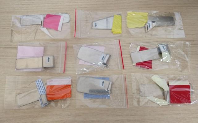 Kit de 9 aparelhos para acabando de costura