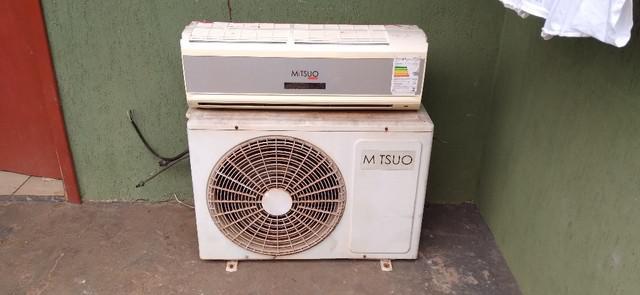 Ar condicionado split 12.000 btus mitsuo em perfeito estado