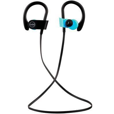 Fone de ouvido bluetooth oex preto e azul hs303