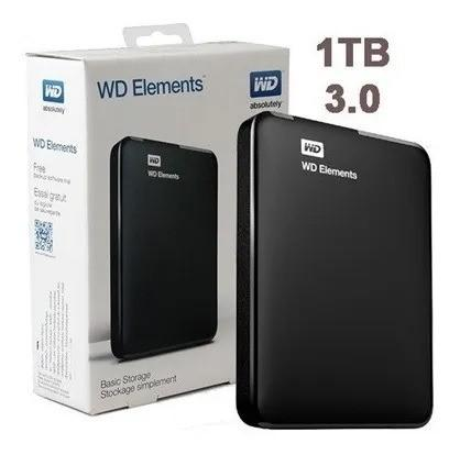 Hd externo 1tb western digital usb 3.0