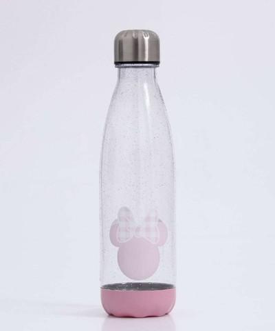 Oferta garrafa feminina estampa minnie glitter 750ml disney