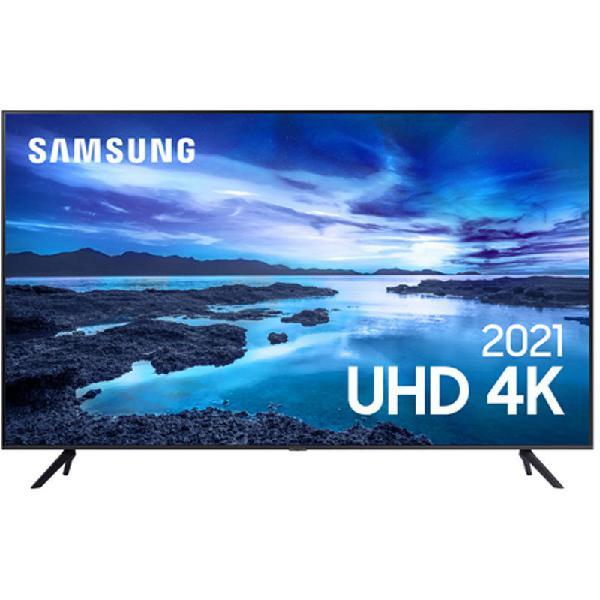 "Samsung Smart TV 65"" UHD 4K 65AU7700, Processador Crystal"