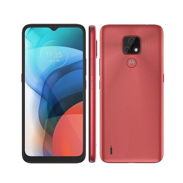 "Smartphone Motorola E7 64GB XT2095 - Tela 6,5/"" HD+, RAM"